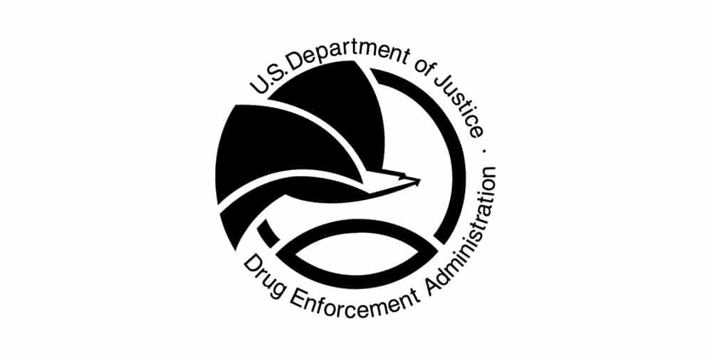 US Department of Justice Drug Enforcement Administration Logo
